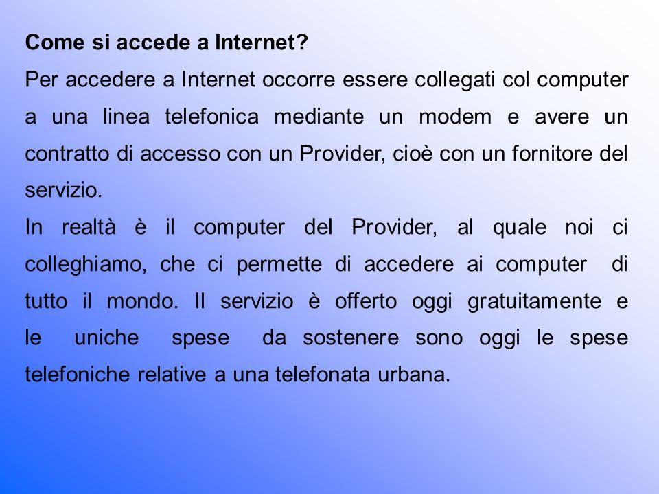 Come si accede a Internet