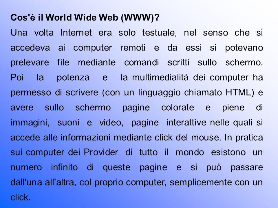 Cos è il World Wide Web (WWW)