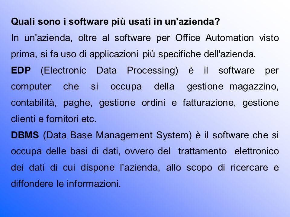 Quali sono i software più usati in un azienda
