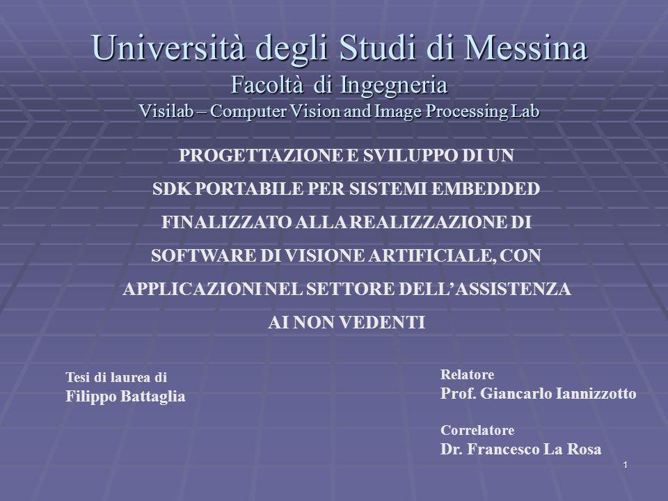 Università degli Studi di Messina Facoltà di Ingegneria Visilab – Computer Vision and Image Processing Lab