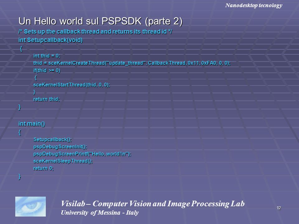 Un Hello world sul PSPSDK (parte 2)