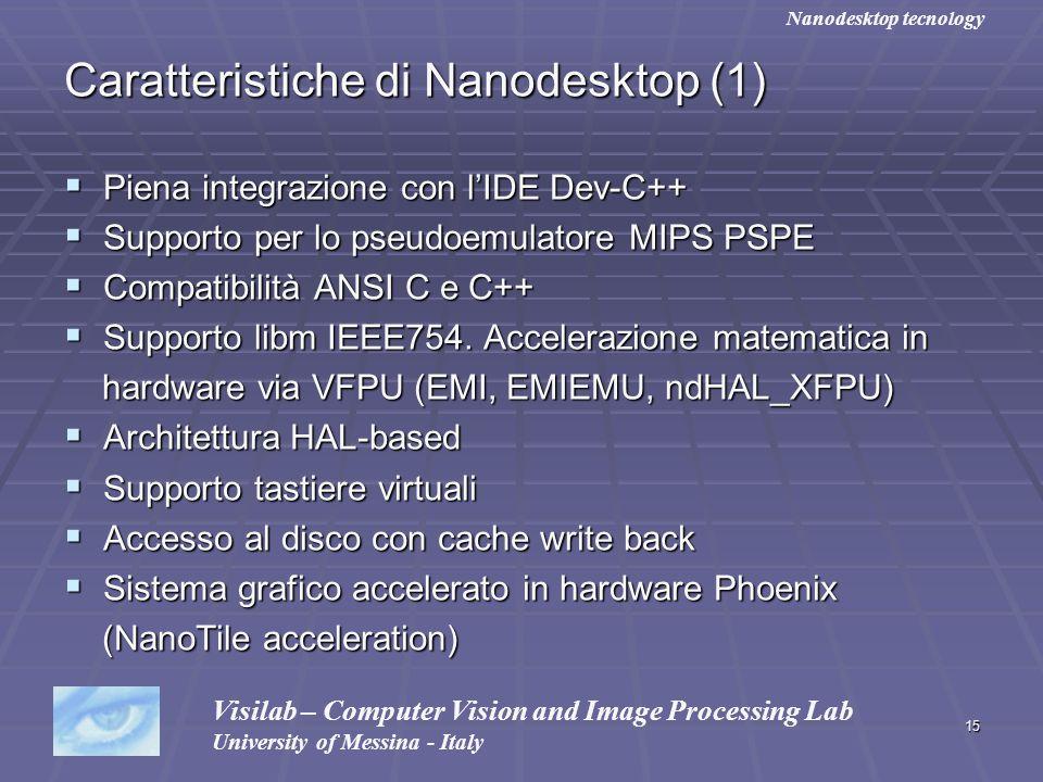 Caratteristiche di Nanodesktop (1)