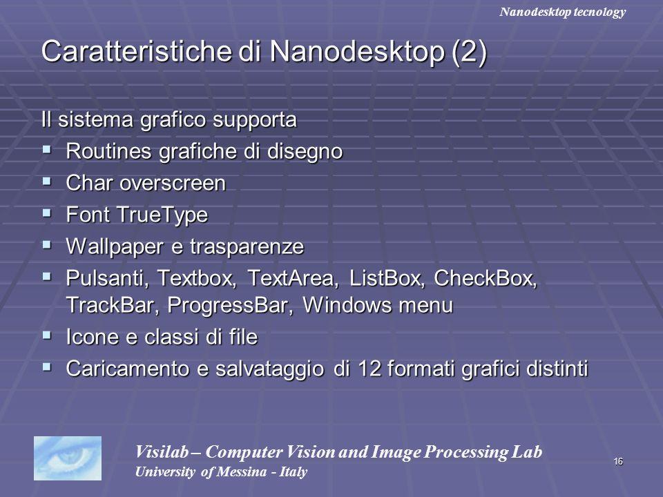 Caratteristiche di Nanodesktop (2)