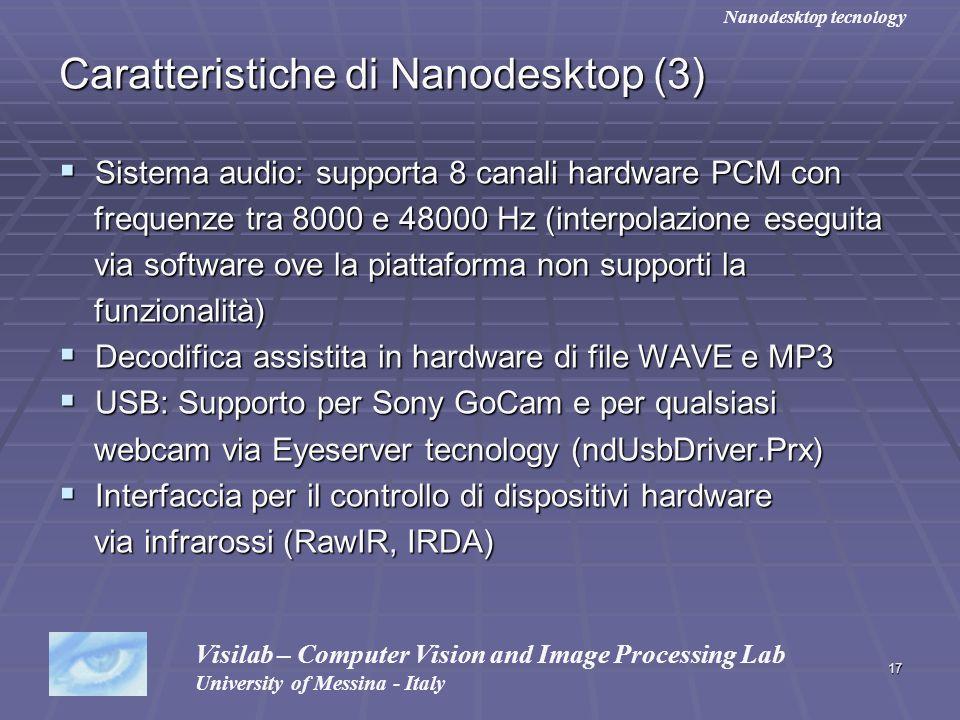 Caratteristiche di Nanodesktop (3)