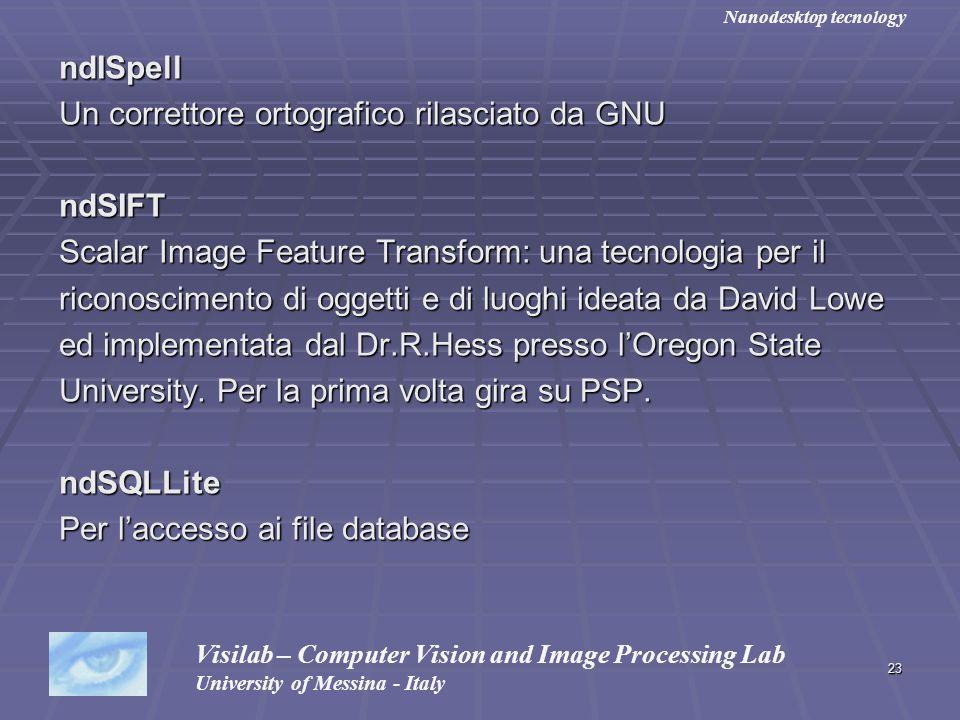 Un correttore ortografico rilasciato da GNU ndSIFT
