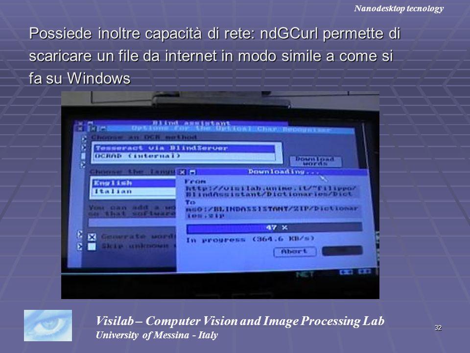 Possiede inoltre capacità di rete: ndGCurl permette di