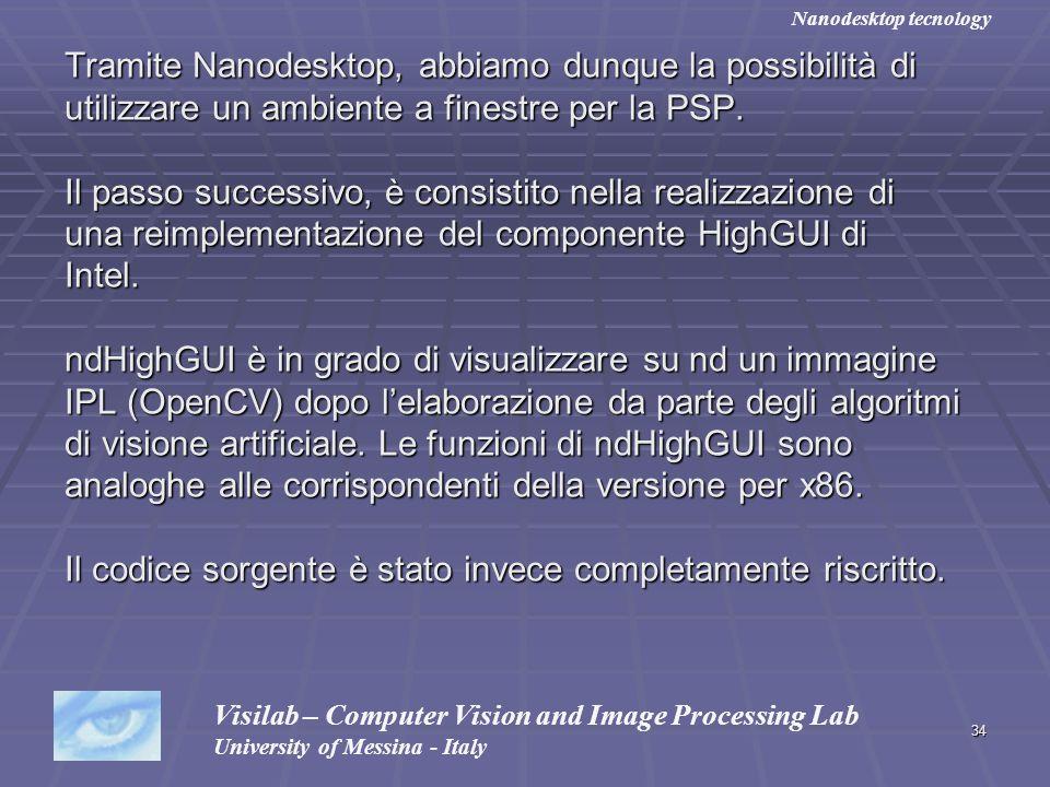 Tramite Nanodesktop, abbiamo dunque la possibilità di