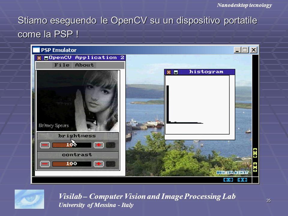 Stiamo eseguendo le OpenCV su un dispositivo portatile come la PSP !