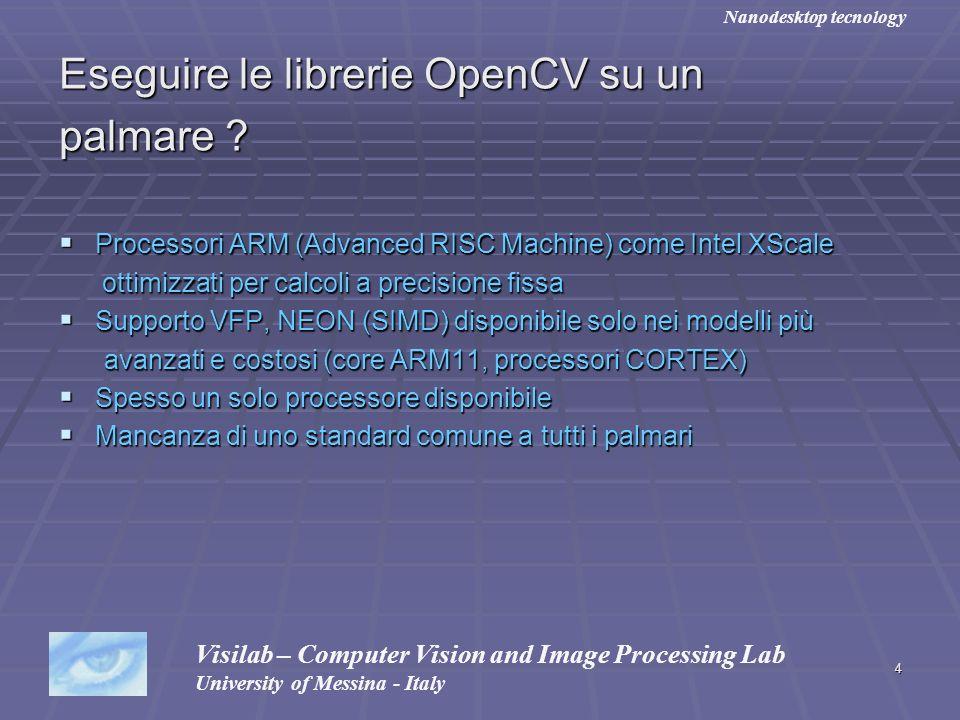 Eseguire le librerie OpenCV su un palmare
