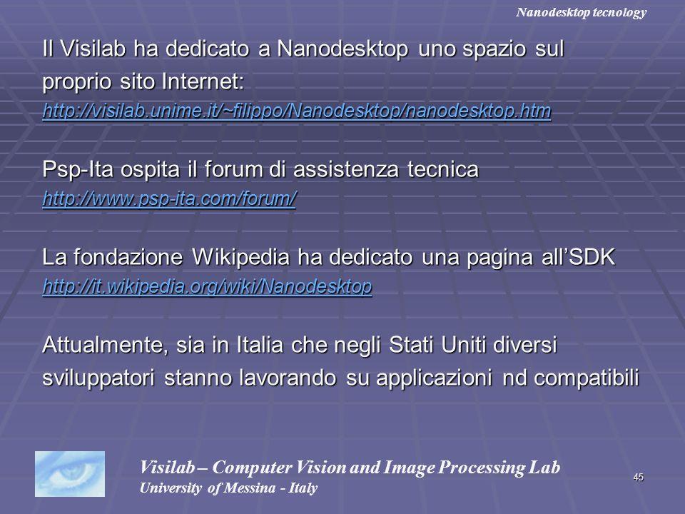 Il Visilab ha dedicato a Nanodesktop uno spazio sul