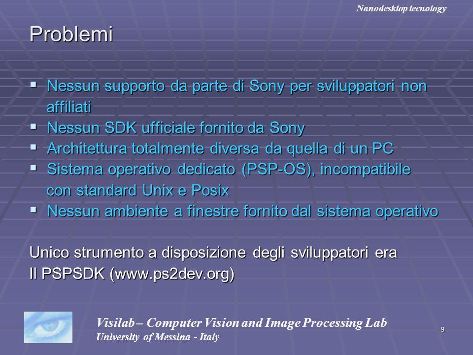 Problemi Nessun supporto da parte di Sony per sviluppatori non