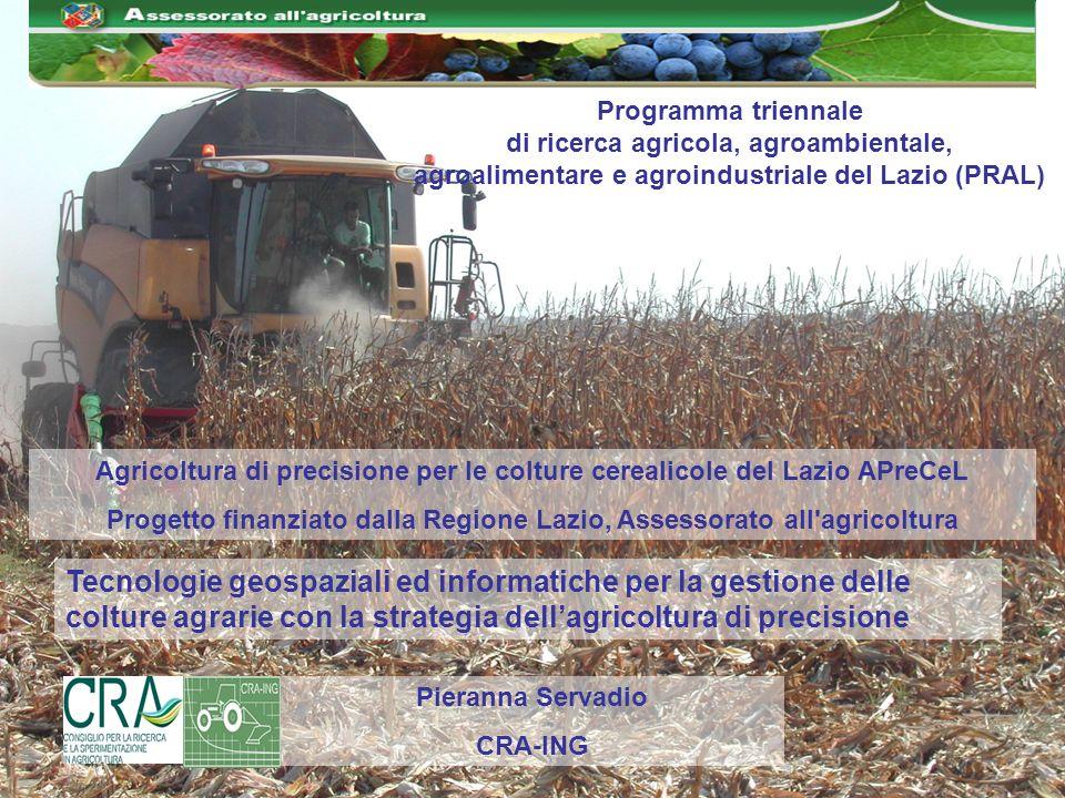 Progetto finanziato dalla Regione Lazio, Assessorato all agricoltura