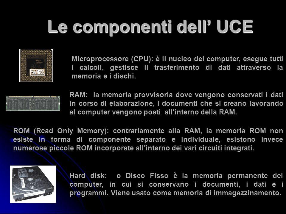Le componenti dell' UCE