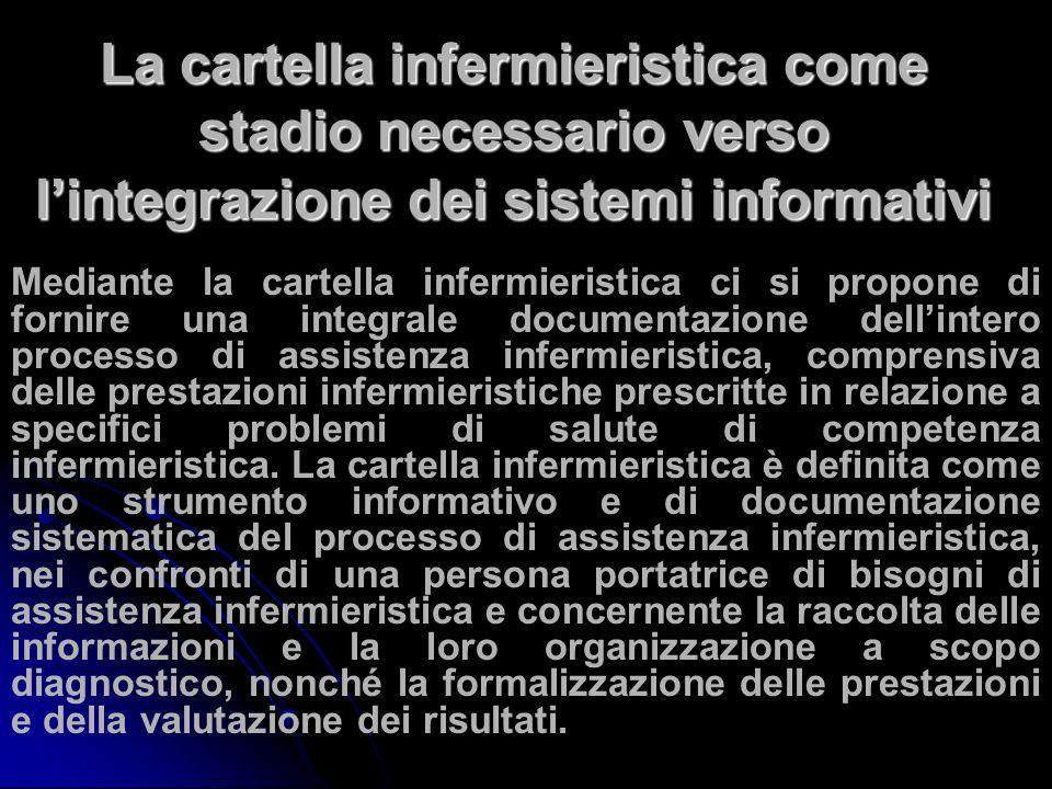 La cartella infermieristica come stadio necessario verso l'integrazione dei sistemi informativi