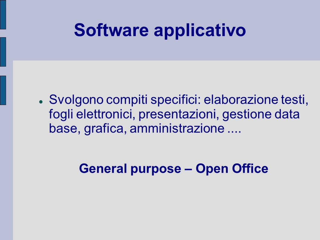 General purpose – Open Office