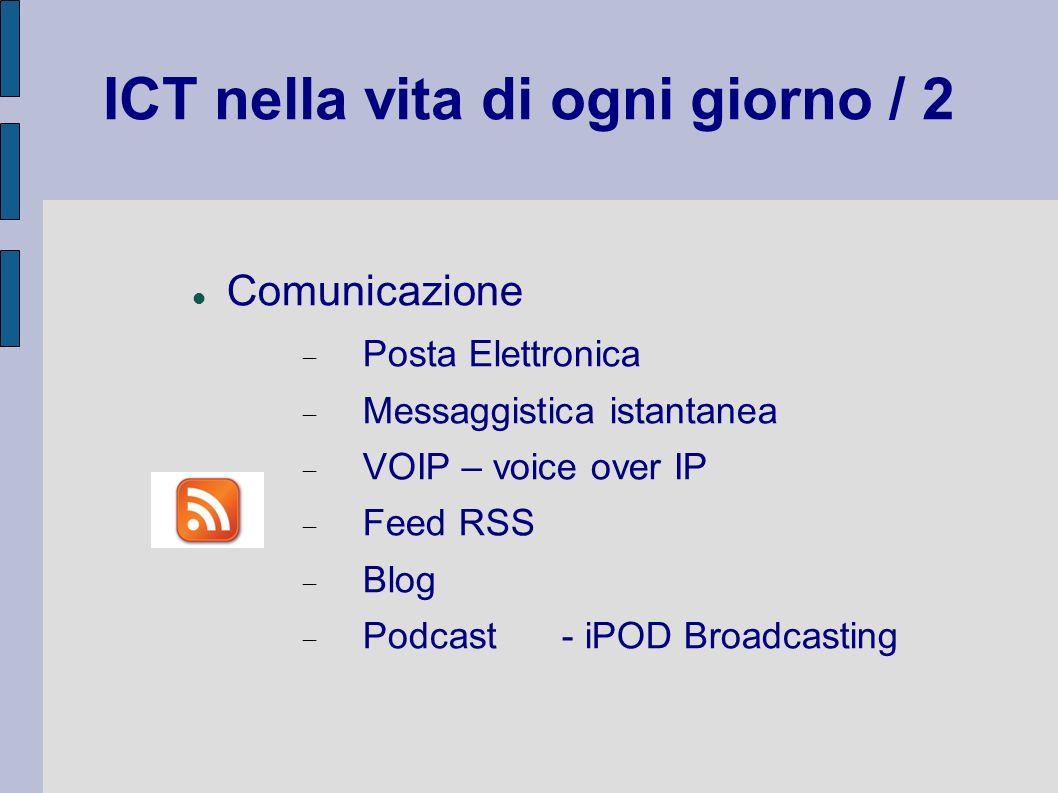 ICT nella vita di ogni giorno / 2