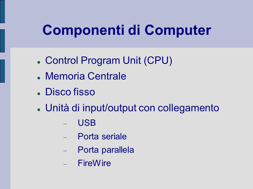 Componenti di Computer
