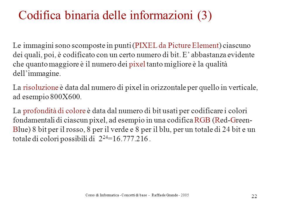 Codifica binaria delle informazioni (3)