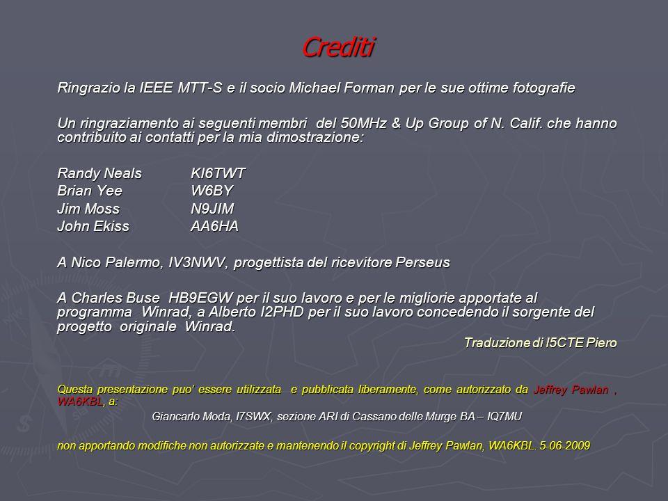 Giancarlo Moda, I7SWX, sezione ARI di Cassano delle Murge BA – IQ7MU