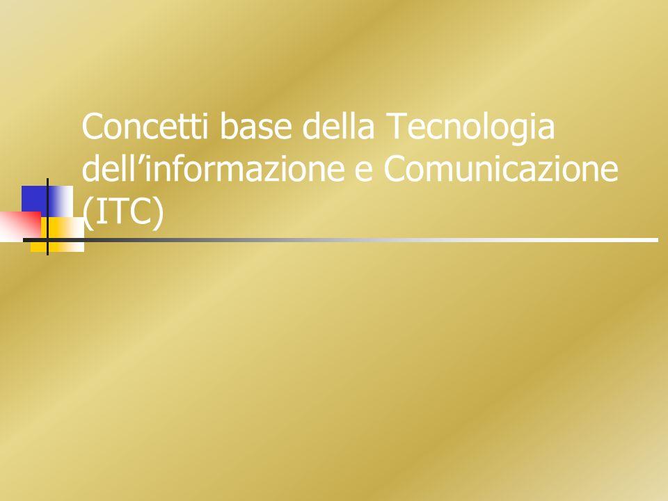 Concetti base della Tecnologia dell'informazione e Comunicazione (ITC)