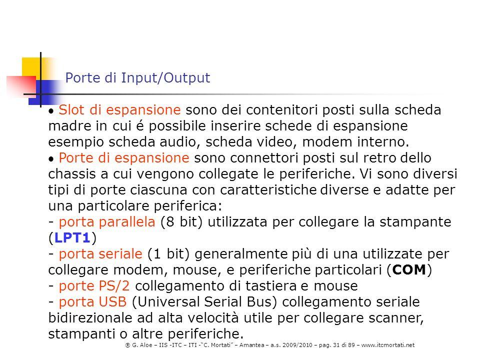 Porte di Input/Output