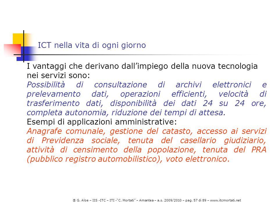 ICT nella vita di ogni giorno