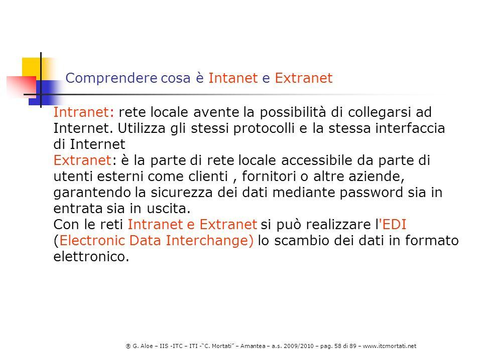 Comprendere cosa è Intanet e Extranet