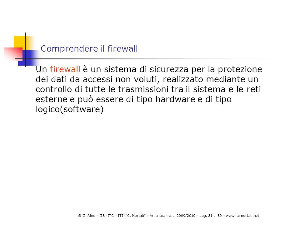 Comprendere il firewall