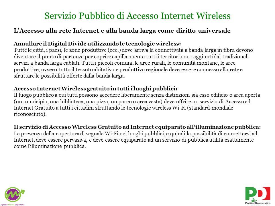 Servizio Pubblico di Accesso Internet Wireless
