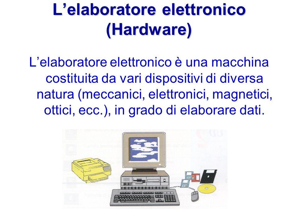 L'elaboratore elettronico (Hardware)