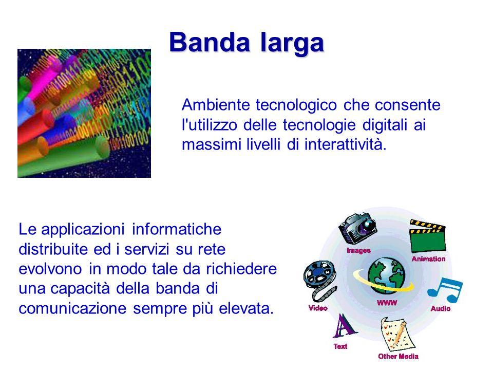 Banda larga Ambiente tecnologico che consente l utilizzo delle tecnologie digitali ai massimi livelli di interattività.