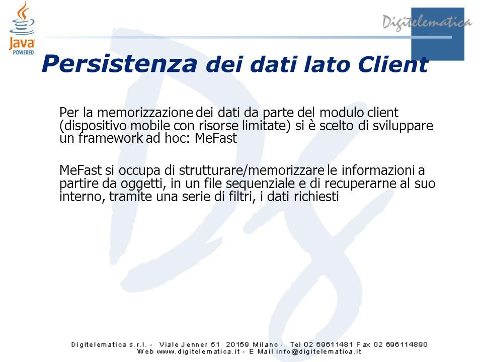 Persistenza dei dati lato Client