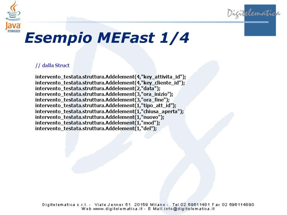 Esempio MEFast 1/4 // dalla Struct