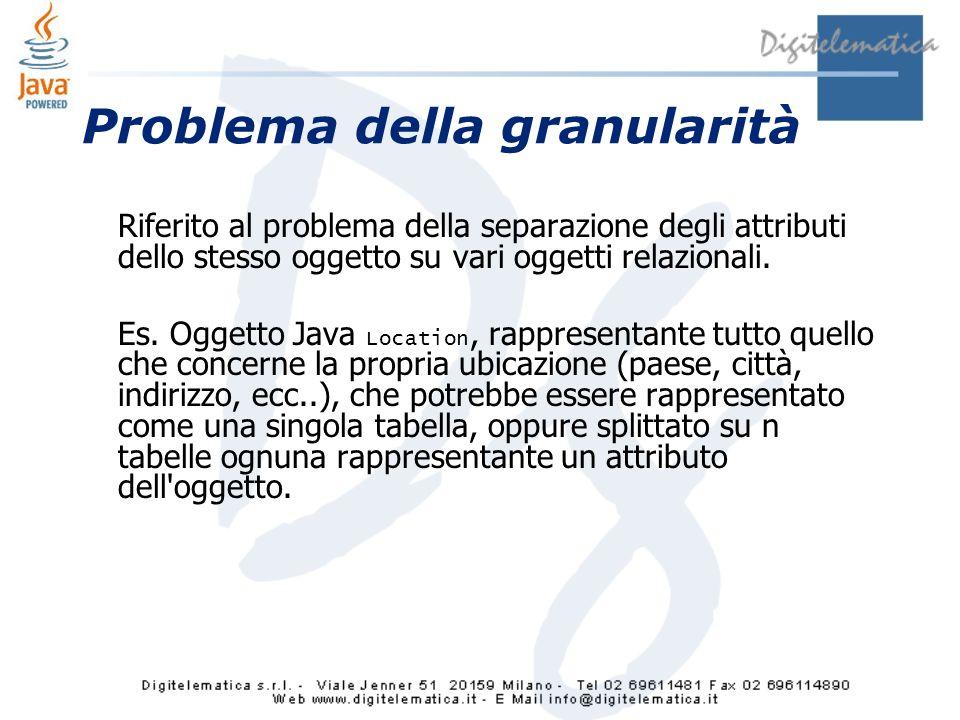 Problema della granularità