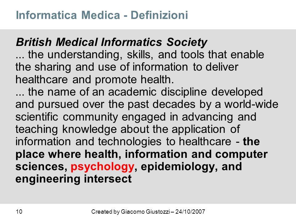 Informatica Medica - Definizioni