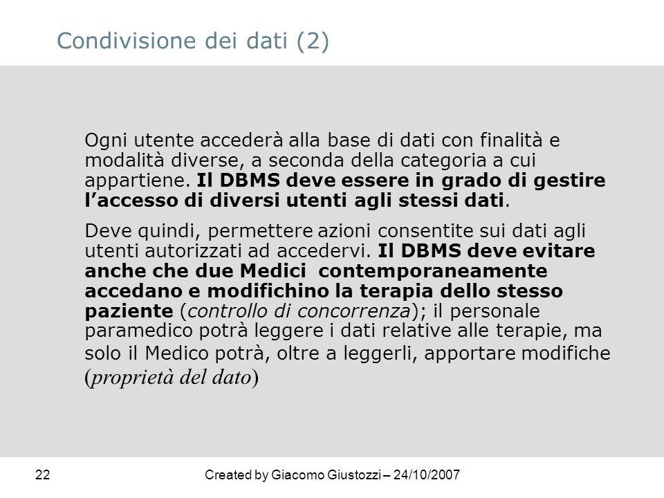 Condivisione dei dati (2)