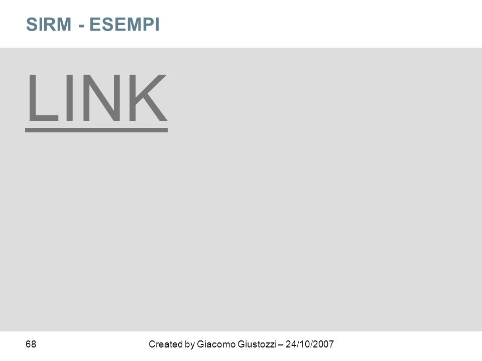 SIRM - ESEMPI LINK