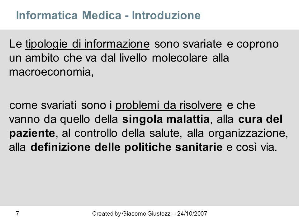 Informatica Medica - Introduzione