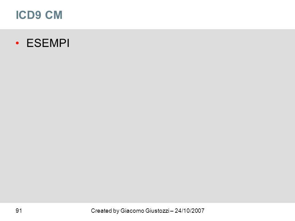 ICD9 CM ESEMPI