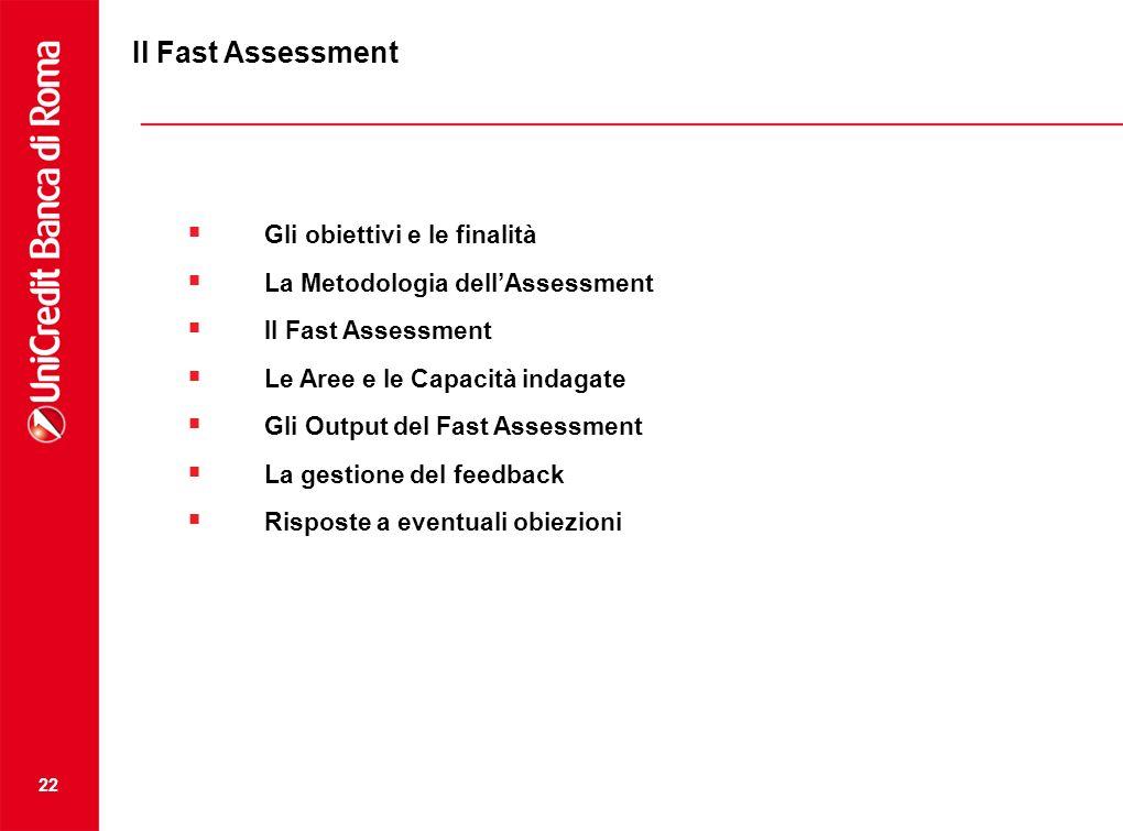 Il Fast Assessment Gli obiettivi e le finalità