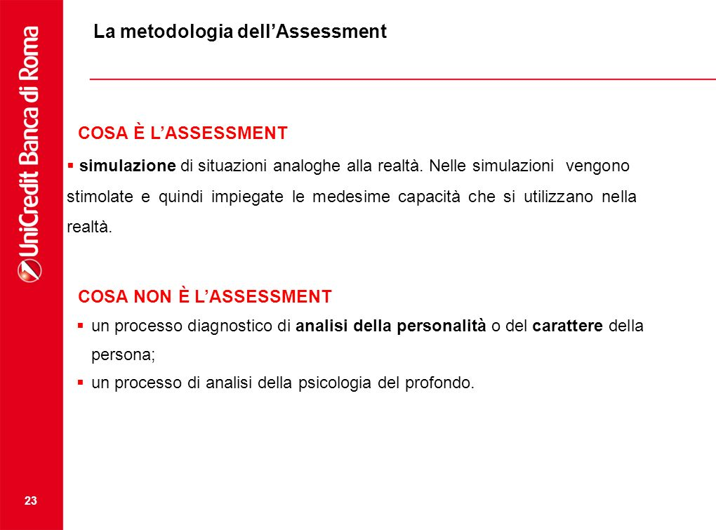 La metodologia dell'Assessment
