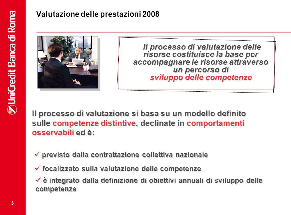 Valutazione delle prestazioni 2008