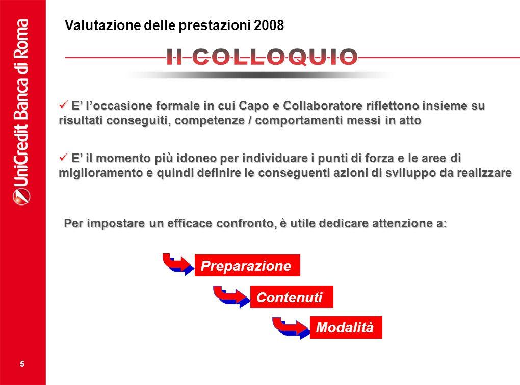 Valutazione della prestazione 2008