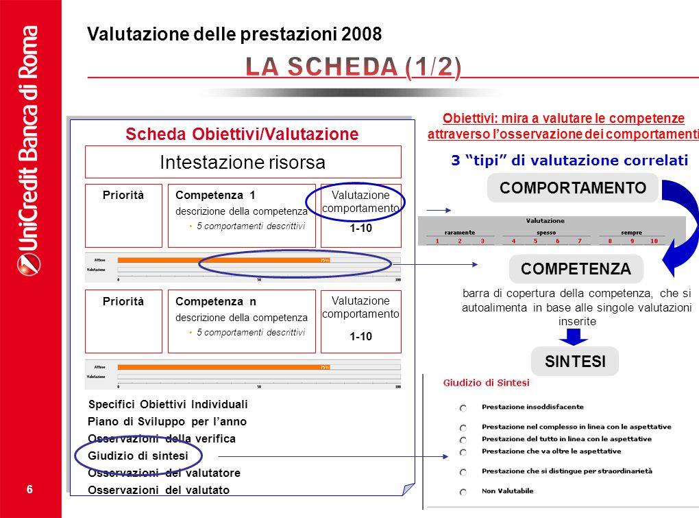 Scheda Obiettivi/Valutazione