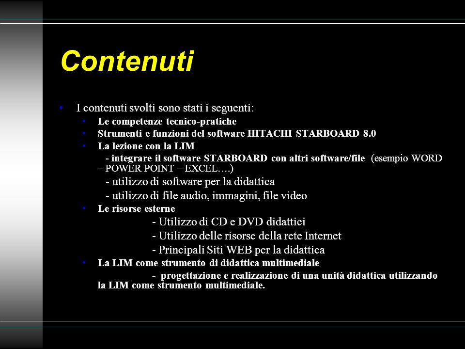 Contenuti I contenuti svolti sono stati i seguenti: