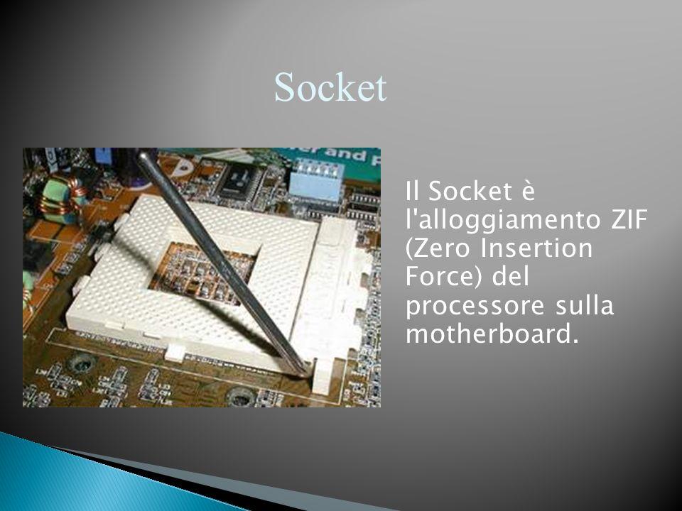 Socket Il Socket è l alloggiamento ZIF (Zero Insertion Force) del processore sulla motherboard.