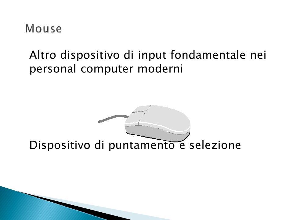 Mouse Altro dispositivo di input fondamentale nei personal computer moderni.