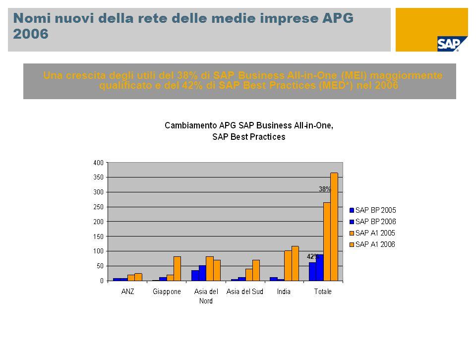 Nomi nuovi della rete delle medie imprese APG 2006