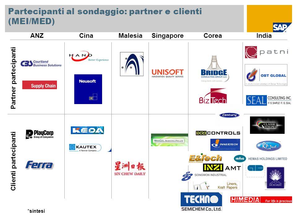 Partecipanti al sondaggio: partner e clienti (MEI/MED)