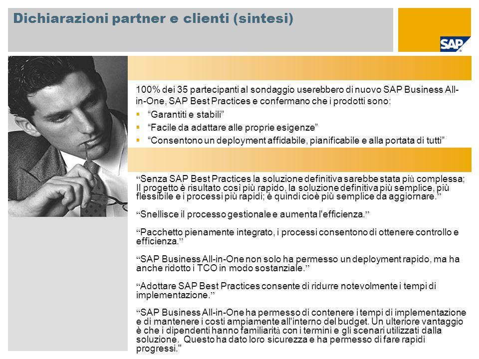 Dichiarazioni partner e clienti (sintesi)